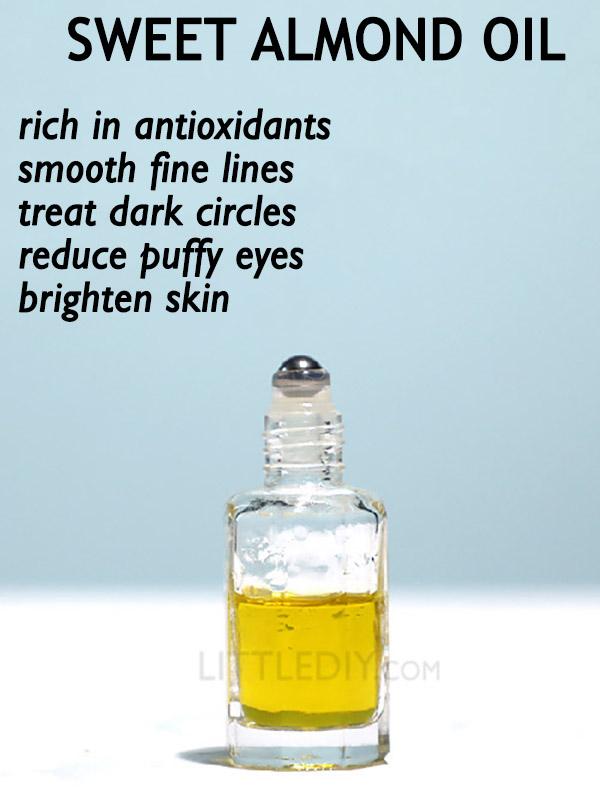 SWEET ALMOND OIL TO BANISH DARK CIRCLES