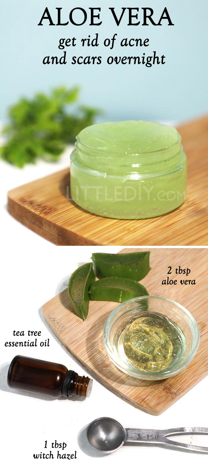Aloe vera to clear acne and scar overnight