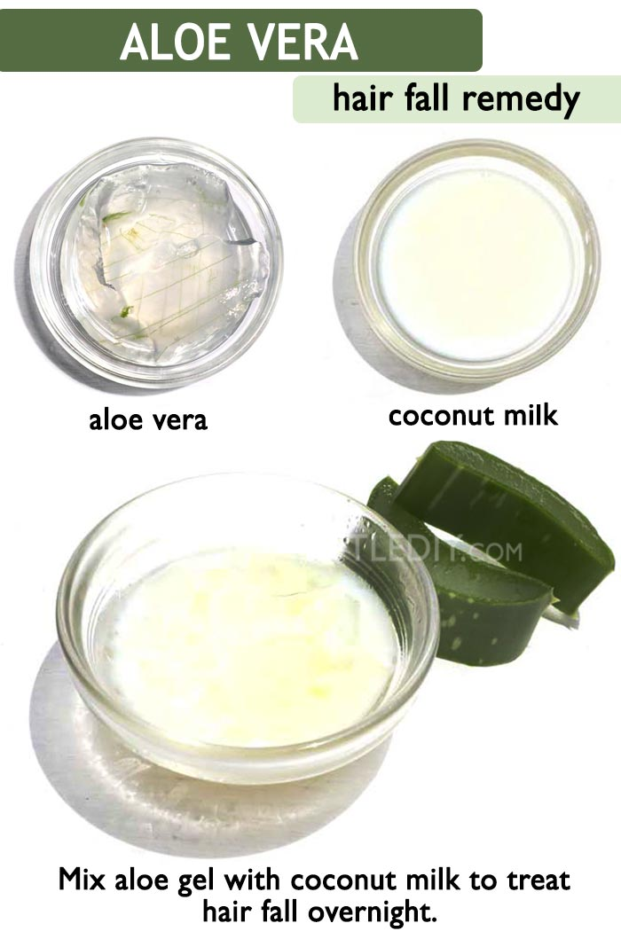ALOE COCONUT MILK FOR HAIR FALL -