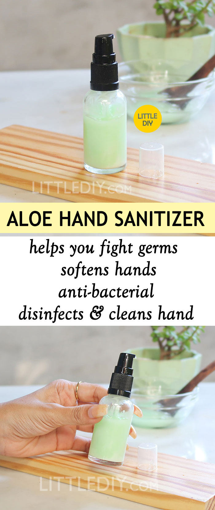 Photo of HOMEMADE NATURAL ALOE VERA HAND SANITIZER