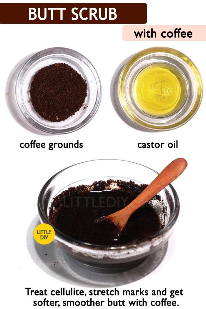 Coffee butt scrub -