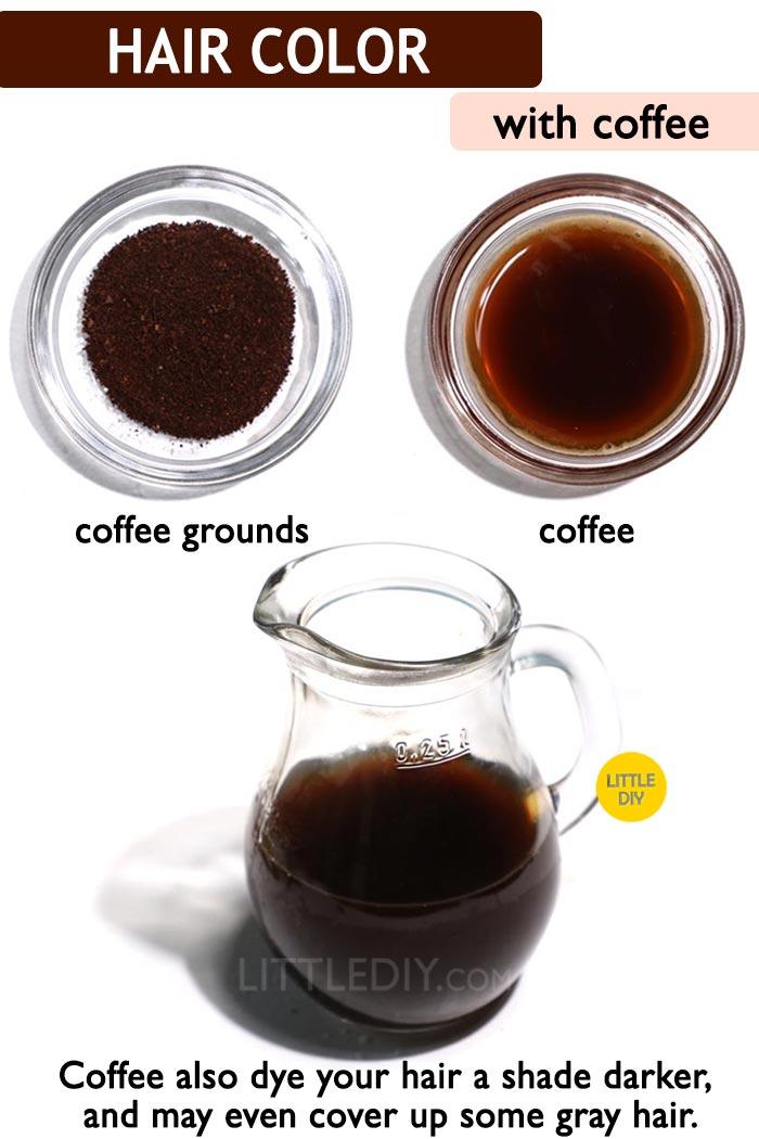 Coffee hair dye -