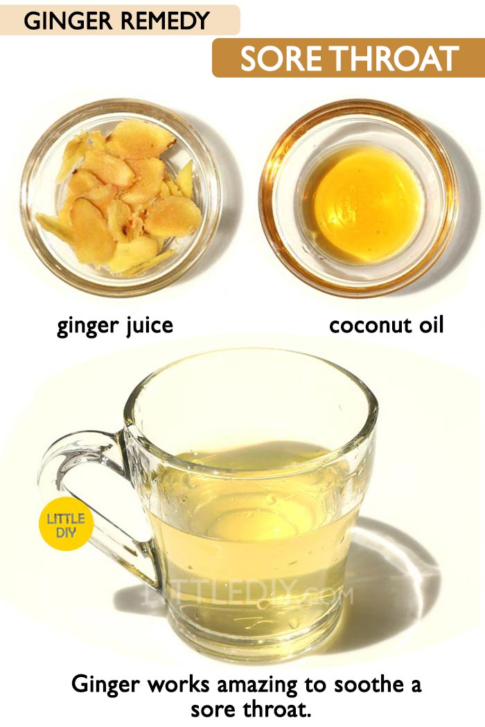 Ginger for sore throat -