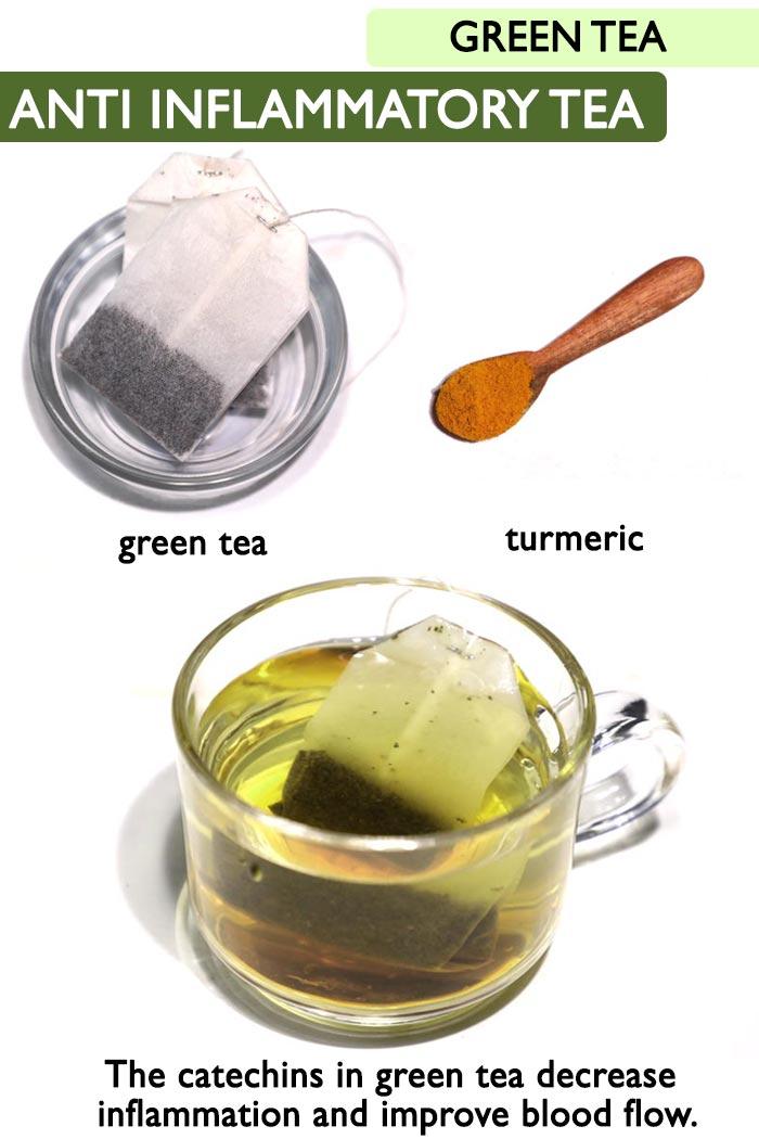 Green anti inflammatory tea   -