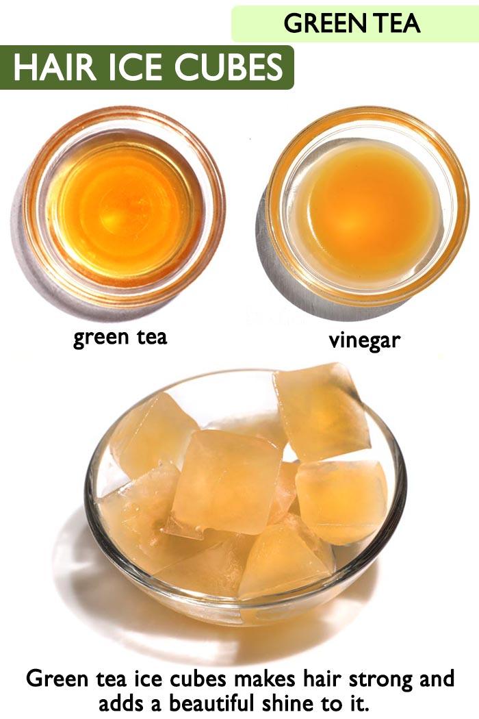 Green tea Hair cubes  -