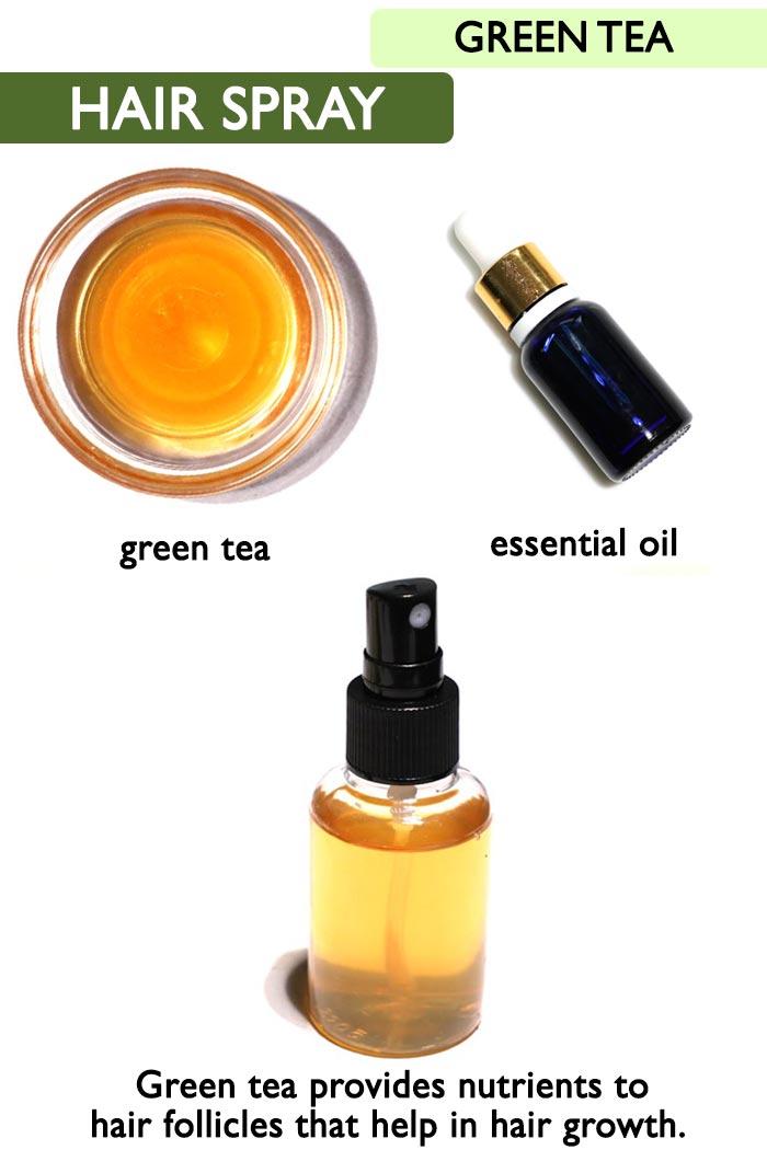 Green tea hair growth spray -