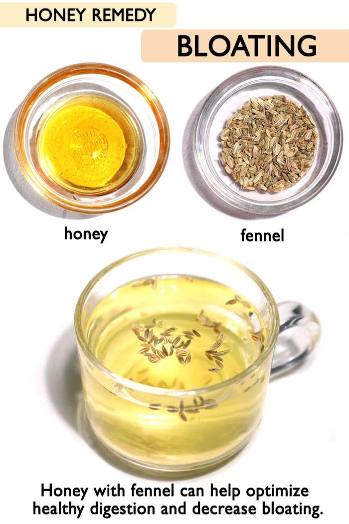 Honey for bloating -