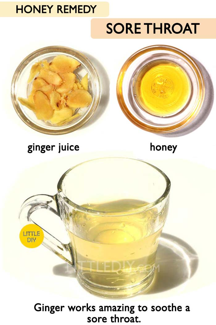 Honey for sore throat -