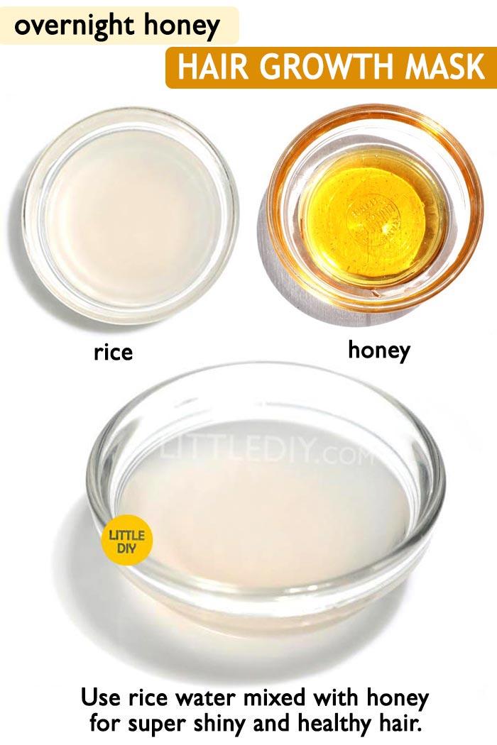 Honey hair sleeping mask for hair growth -