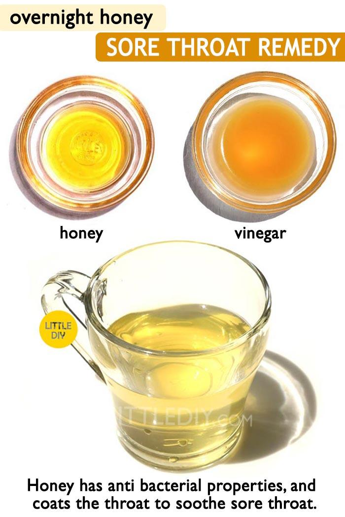 Honey remedy for sore throat