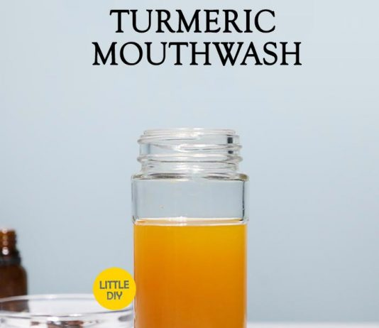 Turmeric mouthwash