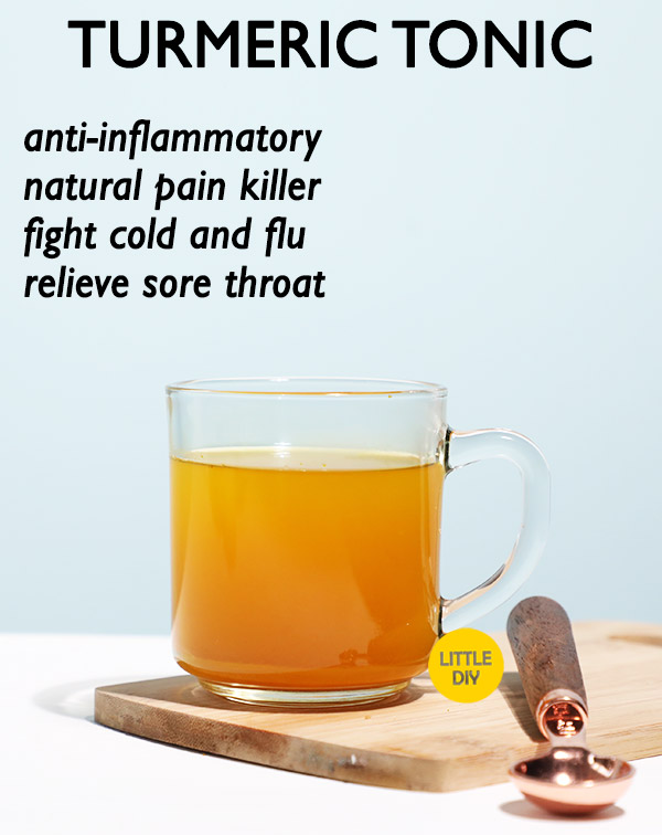 TURMERIC TONIC FOR COLD and SORE THROAT