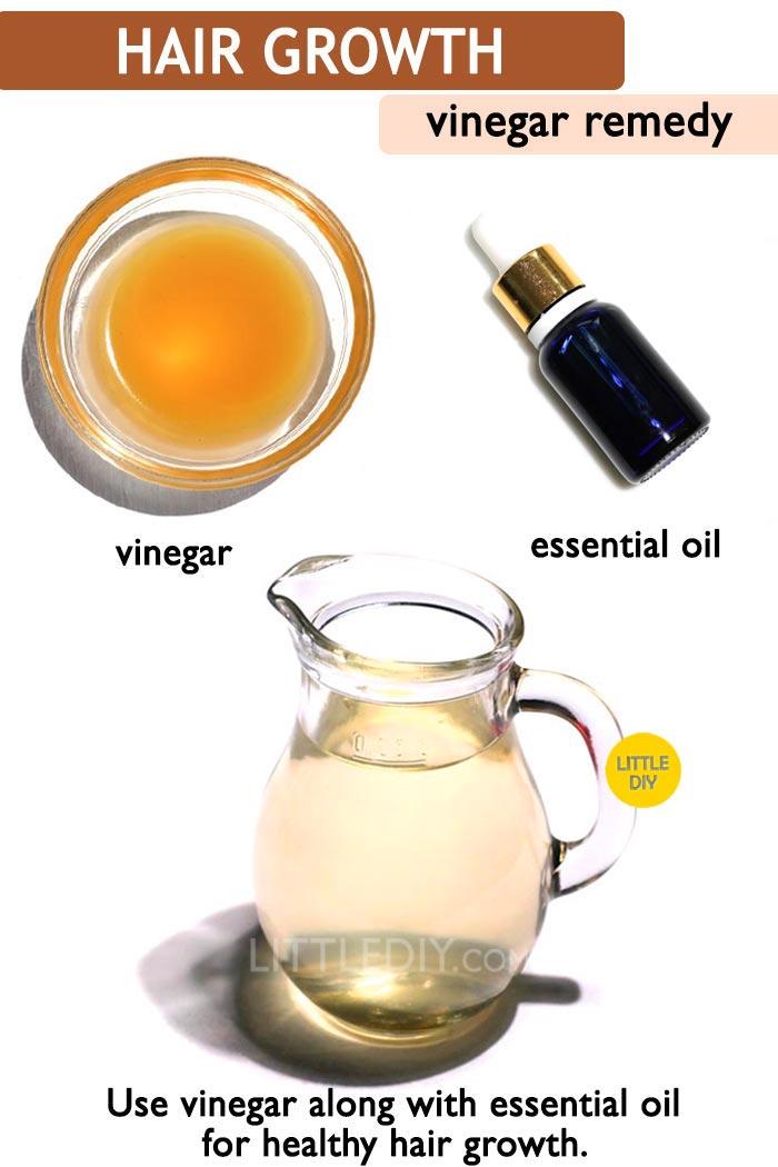 Vinegar hair rinse for hair shine -