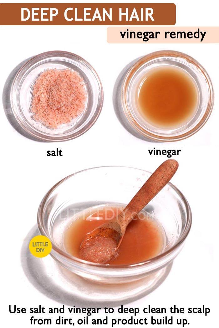 Vinegar Hair scrub for hair growth -