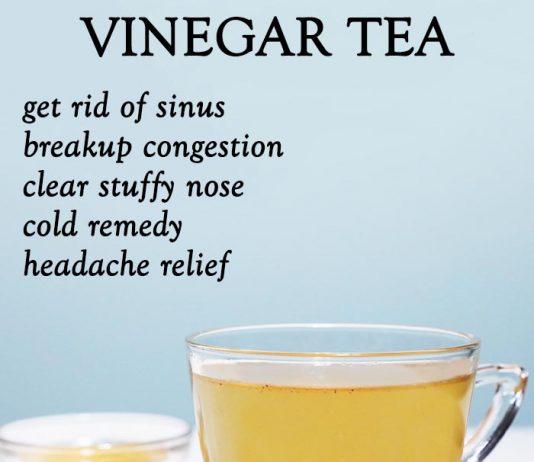 Vinegar Tea to get rid of sinus