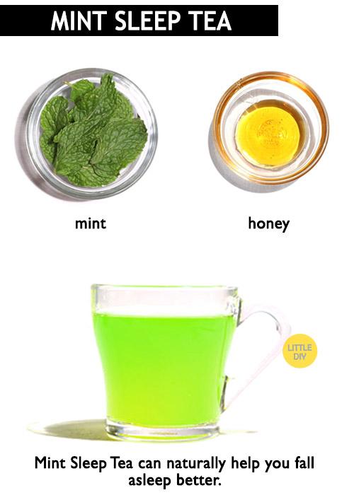 Mint tea for sleep -