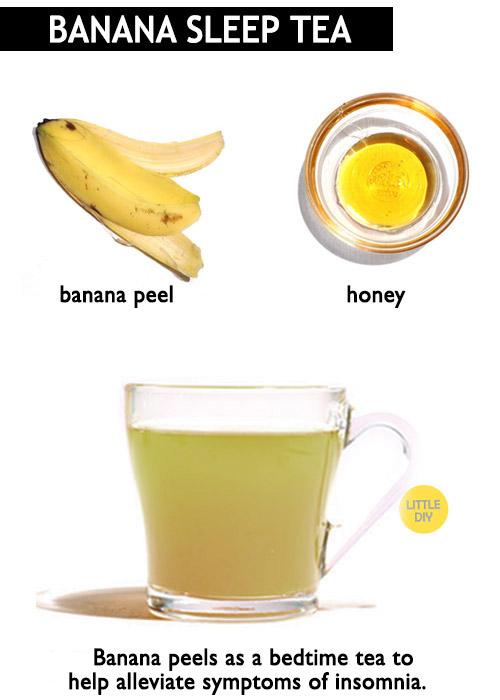 Banana Peel tea for sleep -