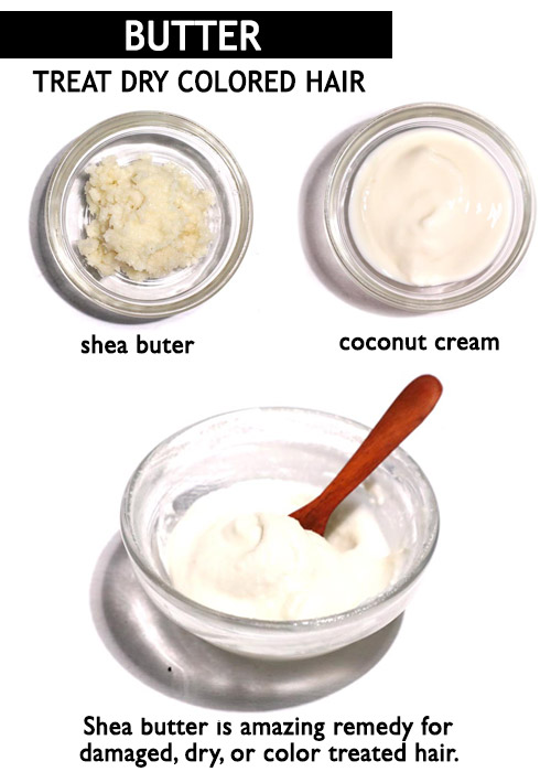 Coconut butter for colored hair -