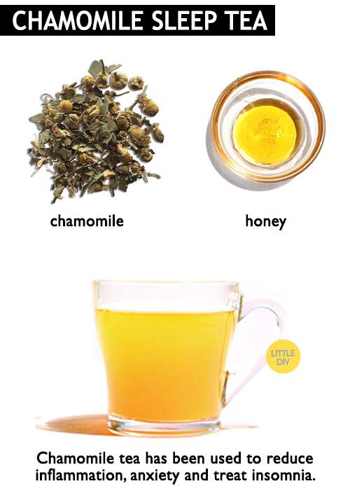 Chamomile tea for sleep -
