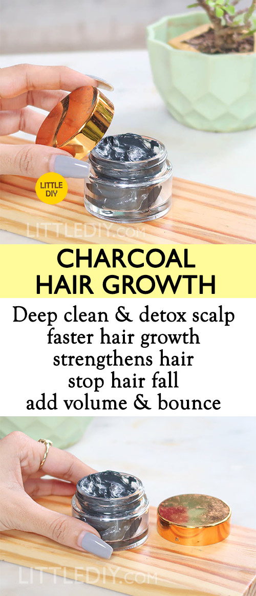 Photo of CHARCOAL TO DEEP CLEAN SCALP for hair growth