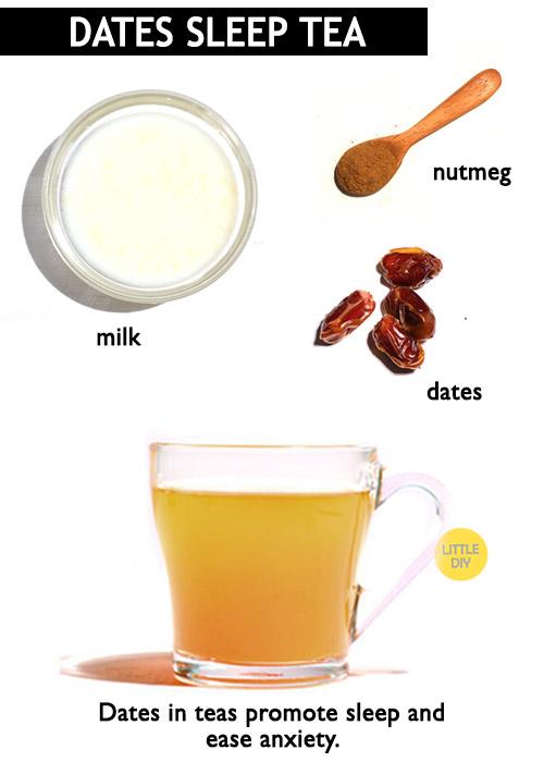 Dates tea for sleep -