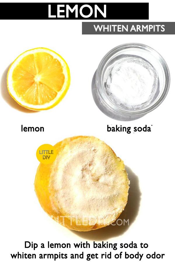 Lemon armpit scrub