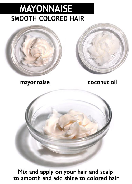 Mayonnaise for colored hair -