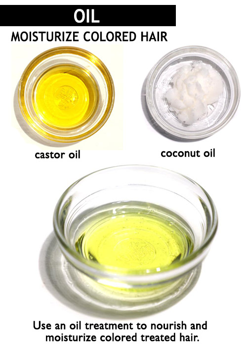 Castor oil for colored hair -
