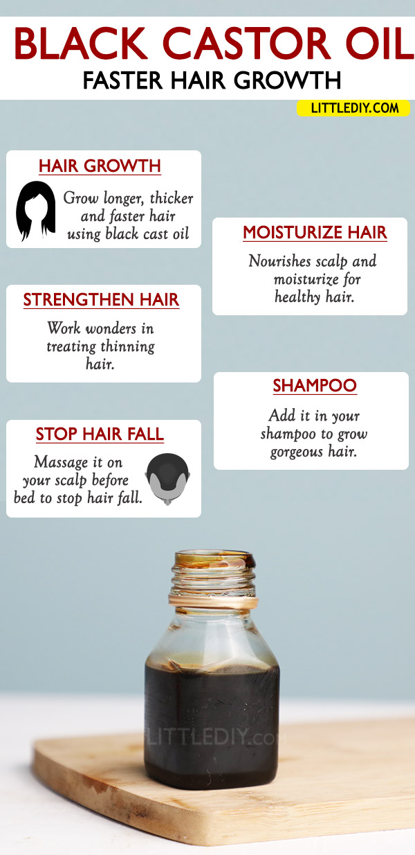 BLACK CASTOR OIL FOR FASTER HAIR GROWTH – BENEFITS AND USES