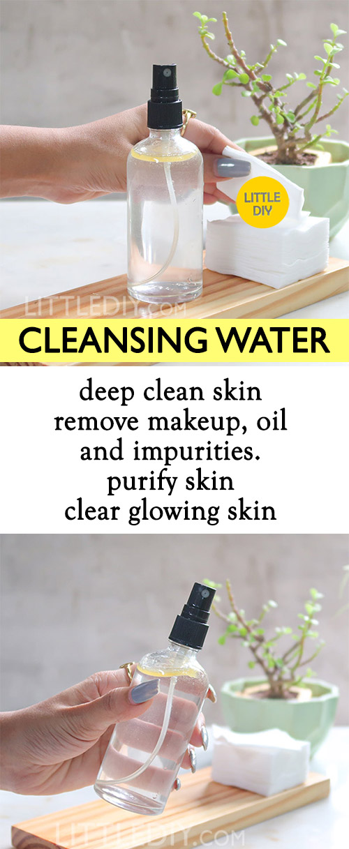 Photo of DIY CLEANSING WATER to purify and deep clean skin