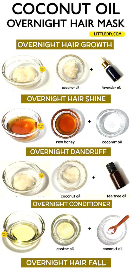 OVERNIGHT COCONUT OIL HAIR TREATMENTS