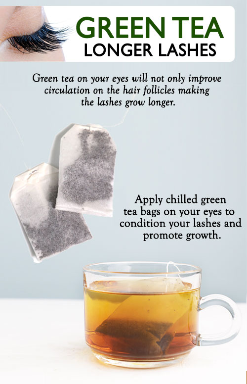 GREEN TEA FOR LONGER LASHES