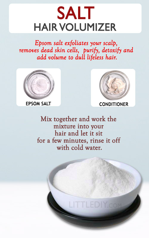 Photo of SALT TO ADD VOLUME TO YOUR HAIR