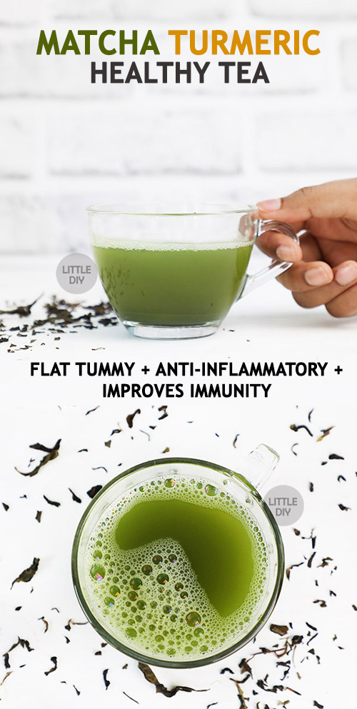 Photo of Matcha Turmeric Healthy Tea Recipe