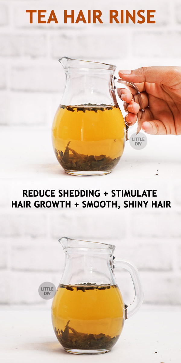 Photo of TEA HAIR RINSE TO REDUCE SHEDDING AND STIMULATE HAIR GROWTH