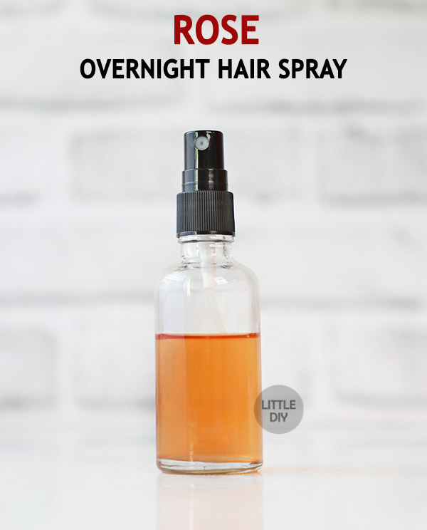 OVERNIGHT ROSE HAIR SPRAY for dry, frizzy hair